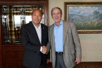 天狮李金元受美国前总统布什亲切接见